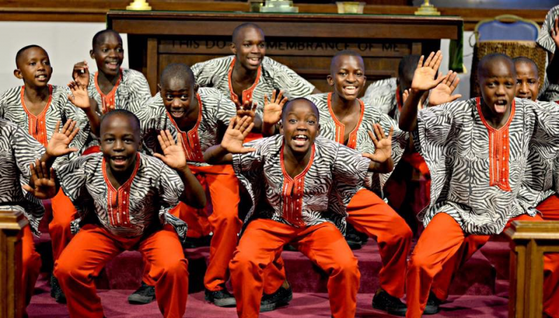 Imani Milele choir on tour