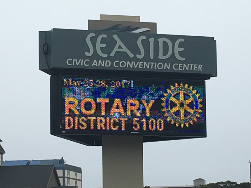 Seaside, Oregon welcomed Rotary District 5100